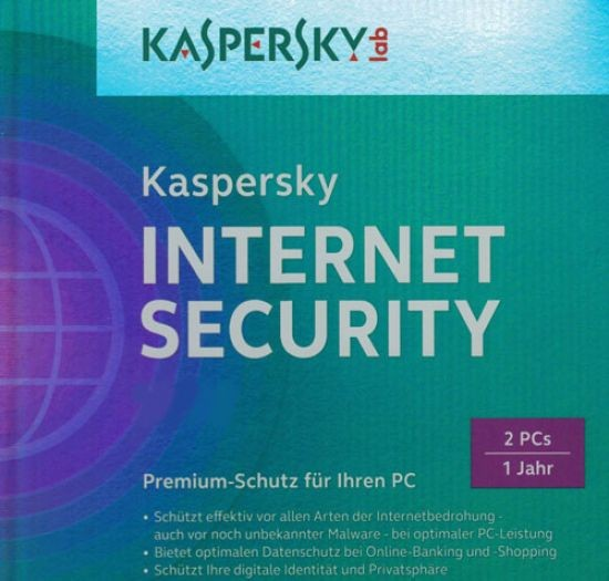 Kaspersky Internet Security, 2 Geräte PC/Mac/Android, 1 Jahr, 2017, ESD,Download