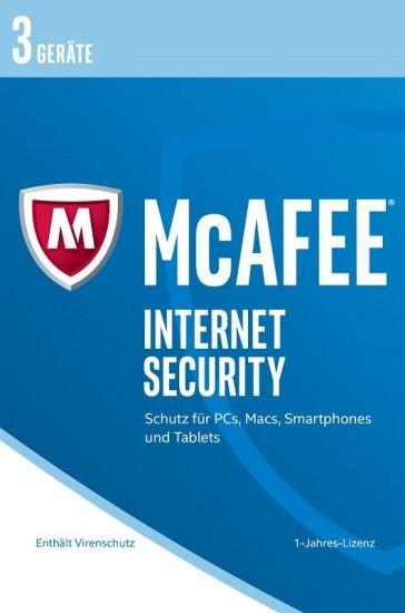 McAfee 2017 Internet Security - 3 Geräte, 1 Jahr, ESD, Lizenz, Download
