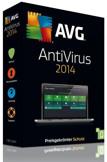 AVG AntiVirus 2014, 1 User, 1 Jahr, KEY