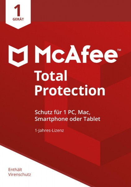 McAfee Total Protection (2018) 1 Gerät 1 Jahr ESD