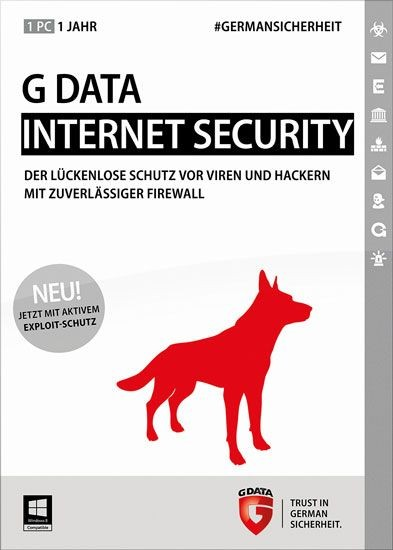 G DATA InternetSecurity, Vollversion, 1 User, 1 Jahr, KEY