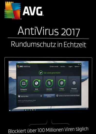 AVG AntiVirus, 3 Geräte, 1 Jahr, 2017, ESD, Lizenz, Download