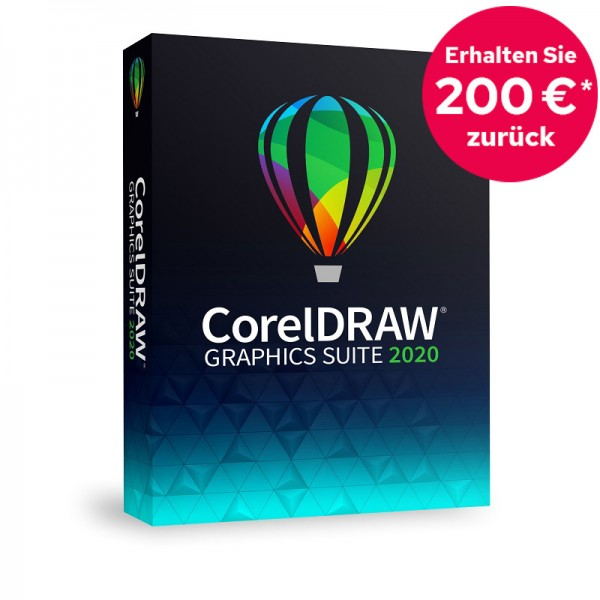 CorelDRAW Graphics Suite 2020 Vollversion Mac Deutsch DVD *200 EUR Cashback*