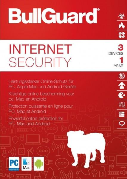 BullGuard Internet Security 3-Geräte 1-Jahr, ESD Lizenz Download KEY