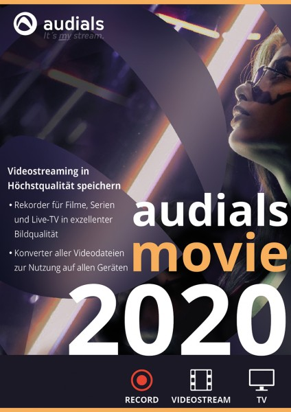 Audials Movie 2020 #PKC (Karte mit Key und Download-Link)