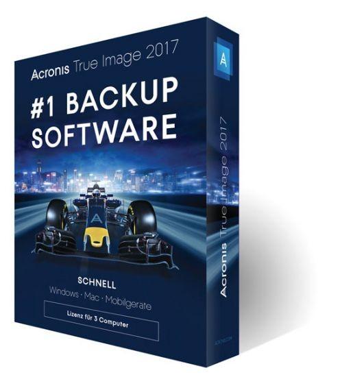 Acronis True Image 2017, BOX, 3 Geräte, Dauerlizenz