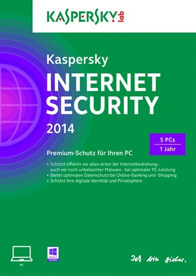 Kaspersky Internet Security, 5 User, 1 Jahr, KEY