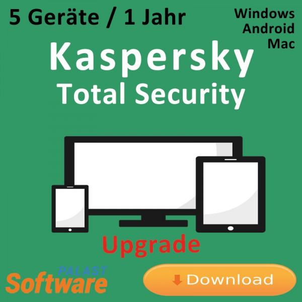 Kaspersky Total Security 2019 *5-Geräte / 1-Jahr* Update, Download