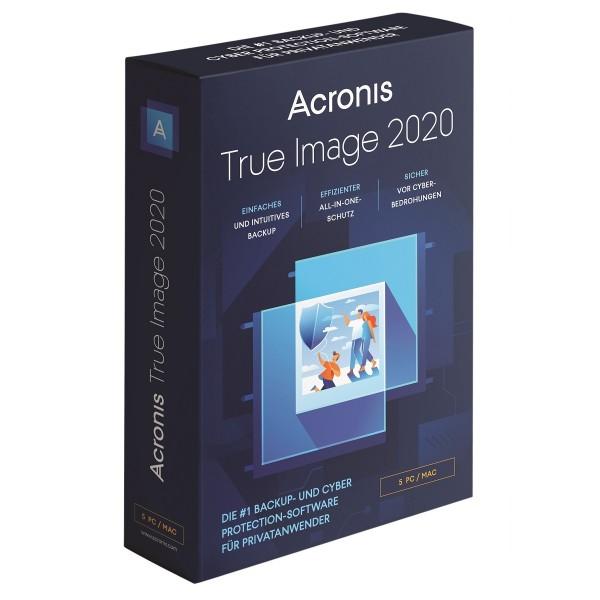Acronis True Image 2020, 5 Geräte, Dauerlizenz, BOX