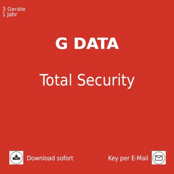 G DATA Total Security, 3 Geräte, 1 Jahr, 2021, Download