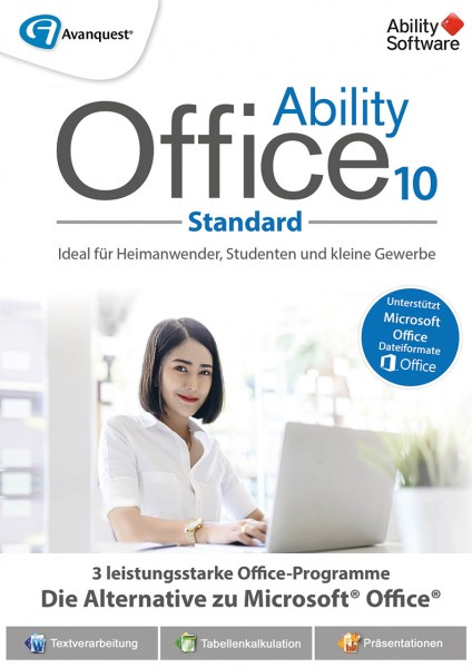 Ability Office 10 Standard #PKC (Karte mit Key und Download-Link)