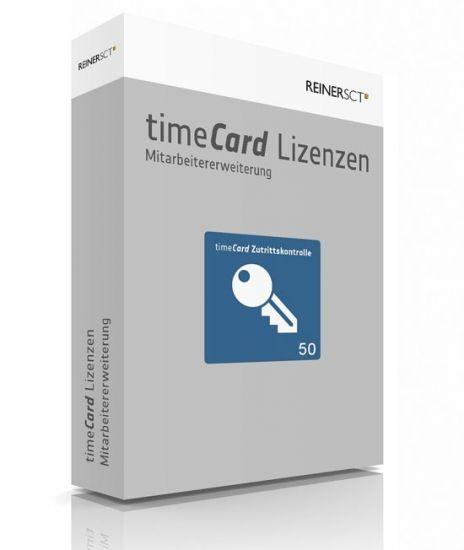 REINER SCT timeCard 6 Zutrittskontrolle ERWEITERUNG 50 Mitarbeiter, Lizenz