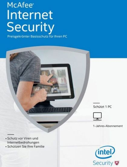 McAfee 2017 Internet Security - 1 Gerät, 1 Jahr, ESD, Lizenz, Download