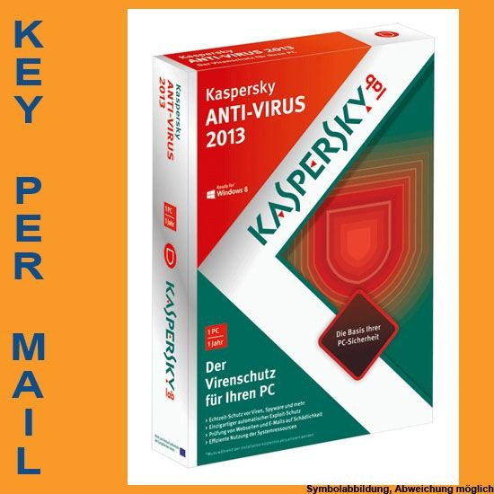 Kaspersky Antivirus, 3 User, 1 Jahr, KEY
