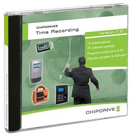 SCM Chipdrive Timerecording (Zeiterfassung) Software neuste Version 7.5, CD