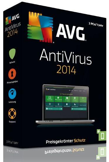 AVG AntiVirus 2014, 3 User, 1 Jahr, KEY