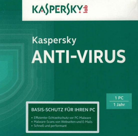 Kaspersky Antivirus, Upgrade, 1 PC, 1 Jahr, ESD, Lizenz, Download, gültig 2016