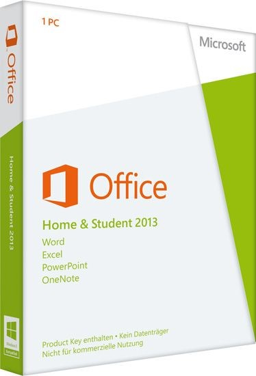 Microsoft Office 2013 Home and Student, Product Key Card, SB
