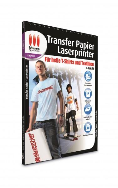 AvanQuest A4 Transfer-Folie für helle T-Shirts und Textilien