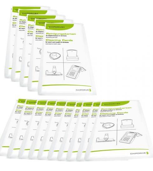CHS SCR Cleaning-Card 15 Reinigungskarten für Chipkartenleser (15er-Pack)