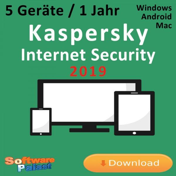 Kaspersky Internet Security 2019 *5-Geräte / 1-Jahr*, Download