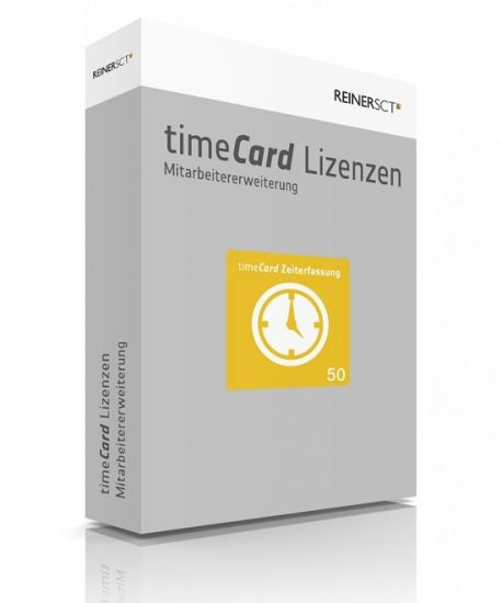 Reiner SCT timeCard 6 Zeiterfassung ERWEITERUNG für 50 Mitarbeiter, Lizenz