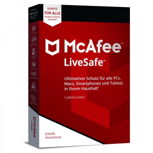 McAfee 2018 LiveSafe MIN-BOX (Code Only)