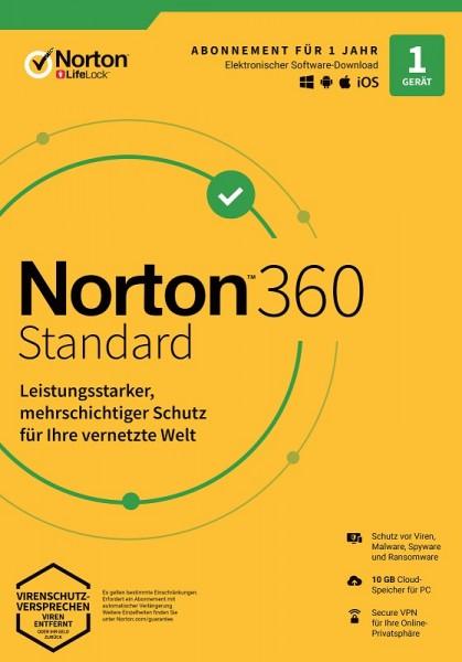 NORTON 360 STANDARD 1 Gerät / 1 Jahr inkl. 10GB, KEIN ABO, ESD Download KEY