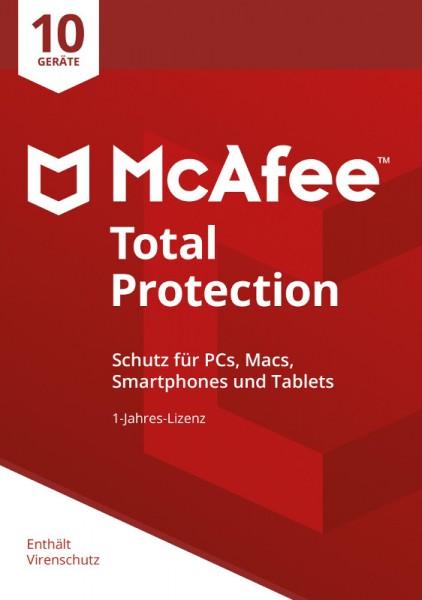 McAfee Total Protection (2018) 10 Geräte 1 Jahr ESD