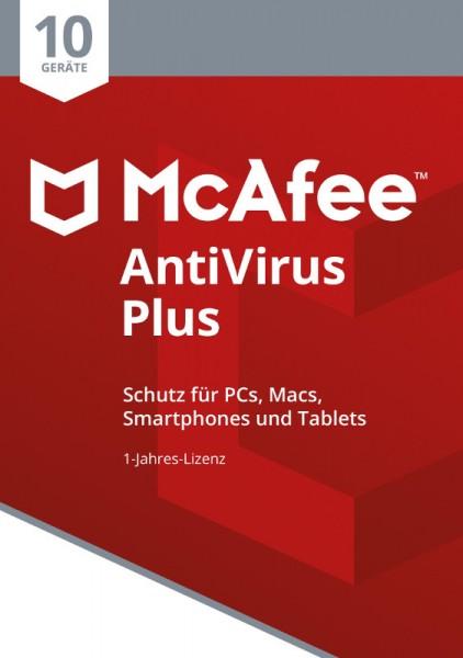 McAfee AntiVirus Plus (2018) 10 Geräte 1 Jahr, ESD