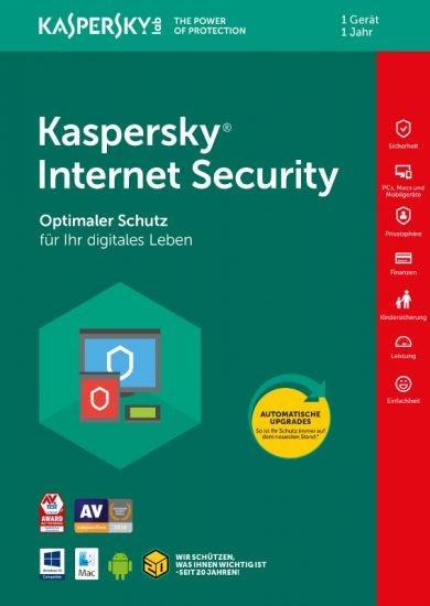 Kaspersky Internet Security, 1 Gerät, 1 Jahr, Download
