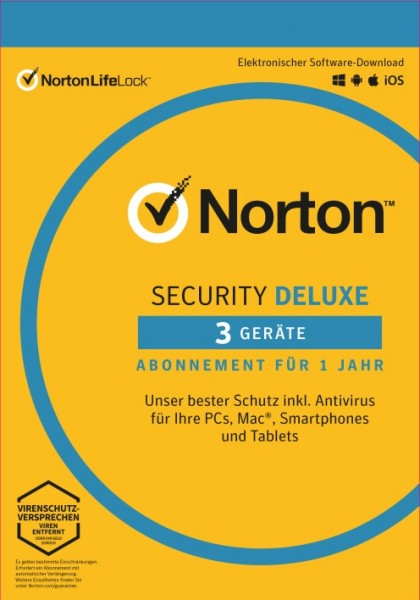 Norton Security Deluxe 3.0 *3-Geräte / 1-Jahr* ESD Lizenz Download