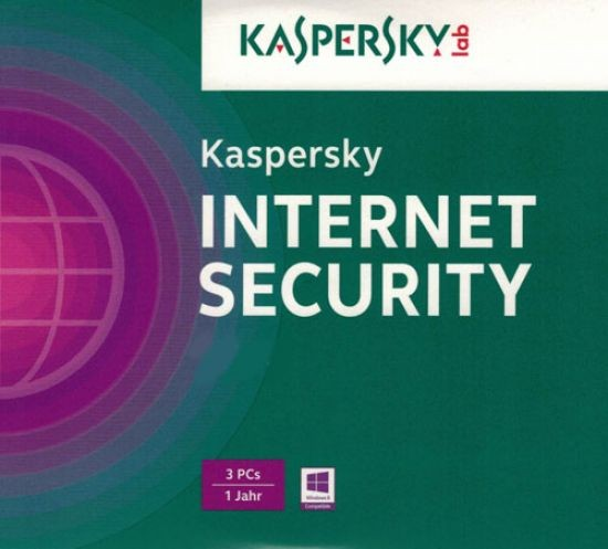Kaspersky Internet Security, Upgrade, 3 User, 1 Jahr, gültig für 2016, KEY