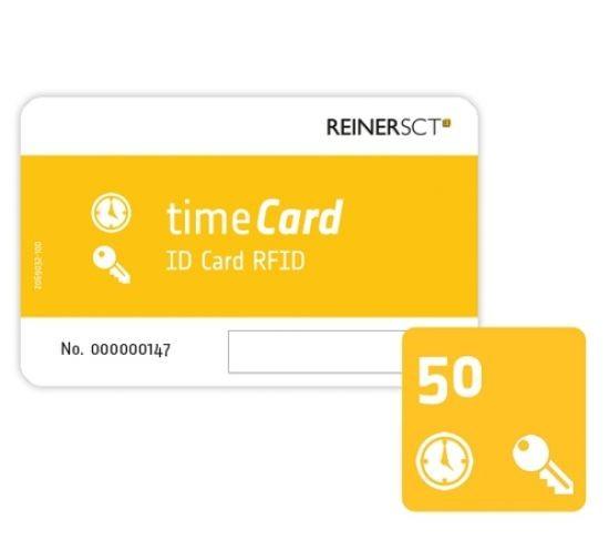 REINER SCT timeCard RFID Chipkarten 50 Stk. (DES)