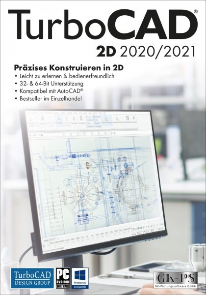TurboCAD 2D 2020/2021, ESD Lizenz Download KEY