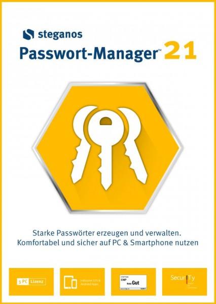 Steganos Passwort-Manager 21 #PKC (Karte mit Key und Download-Link)