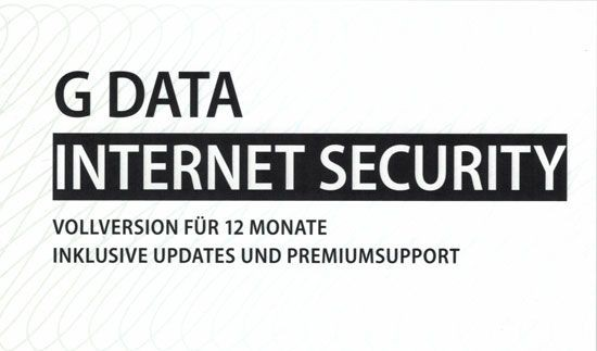 G DATA Internet Security, 1 PC, 1 Jahr, KEY