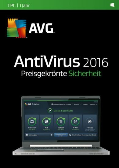 AVG AntiVirus 2016, 1 User, 1 Jahr, KEY