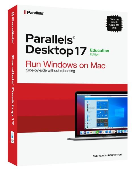 EDUCATION - Parallels Desktop 17 Standard für MAC 1-Jahr Academic / Schulversion #BOX