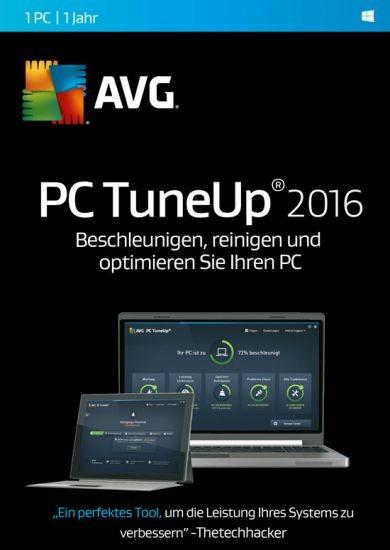 AVG TuneUp Utilities 2016, 1 User, 1 Jahr, (auch für 2017) KEY