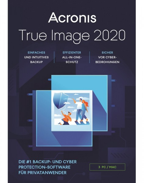 Acronis True Image 2020, 3 Geräte, Dauerlizenz, ESD, Lizenz, Download