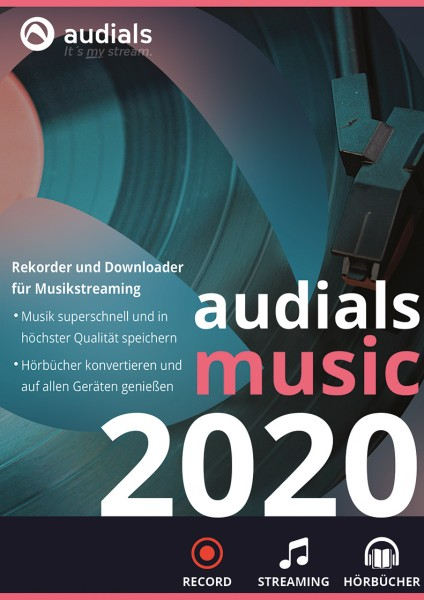 Audials Music 2020 #PKC (Karte mit Key und Download-Link)