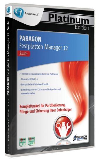 APE Paragon Festplatten Manager 12 Suite, PC, DVD-BOX