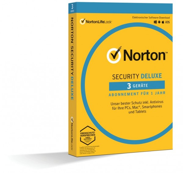 Norton Security Deluxe 3.0 *3-Geräte / 1-Jahr* BOX (Card Case)