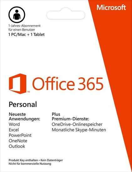Office 365 Personal, 1 PC/MAC + 1 Tablet, Download ESD KEY