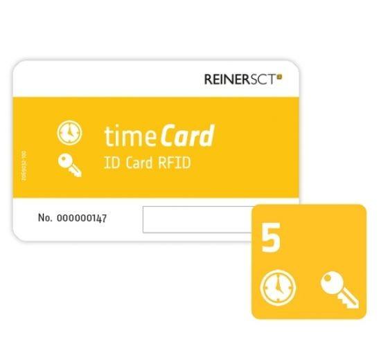 REINER SCT timeCard RFID Chipkarten 5 Stk. (DES)