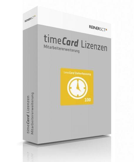ReinerSCT timeCard 6 Zeiterfassung ERWEITERUNG für 100 Mitarbeiter, Lizenz