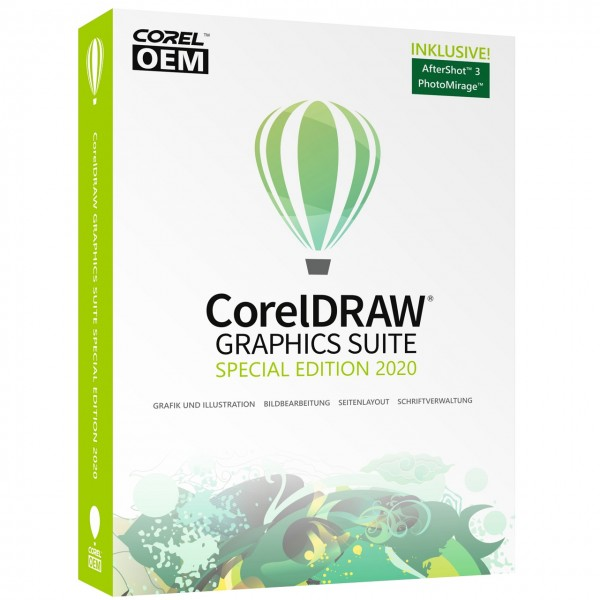 CorelDRAW Graphics Suite 2020 Special Edition OEM #DVD-Case