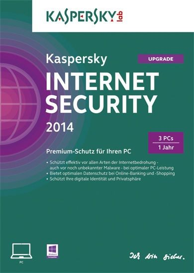 Kaspersky Internet Security, Upgrade, 3 Geräte, 1 Jahr, KEY