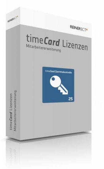 REINER SCT timeCard 6 Zutrittskontrolle ERWEITERUNG 25 Mitarbeiter, Lizenz